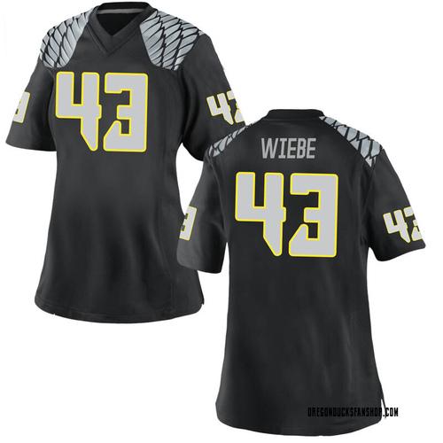 Women's Nike Nick Wiebe Oregon Ducks Game Black Football College Jersey