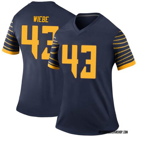 Women's Nike Nick Wiebe Oregon Ducks Legend Navy Football College Jersey