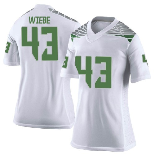 Women's Nike Nick Wiebe Oregon Ducks Limited White Football College Jersey