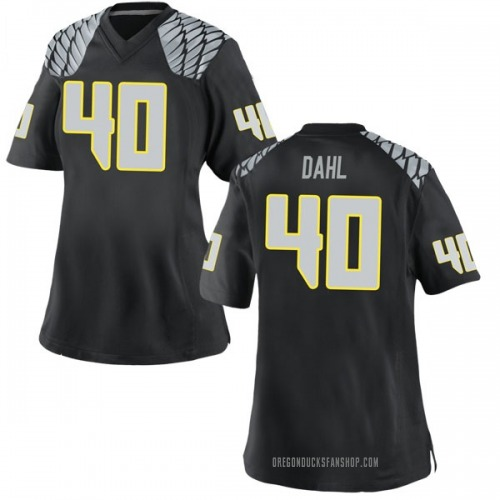 Women's Nike Noah Dahl Oregon Ducks Game Black Football College Jersey