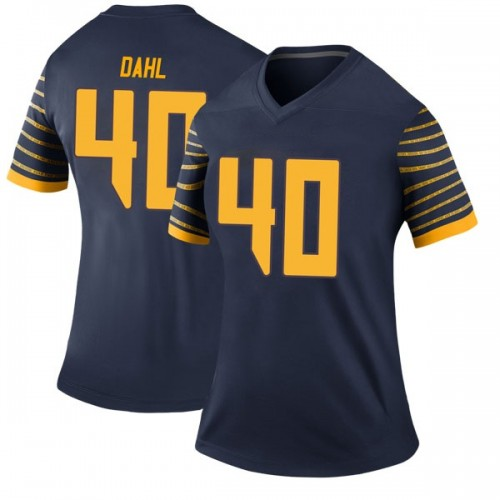 Women's Nike Noah Dahl Oregon Ducks Legend Navy Football College Jersey