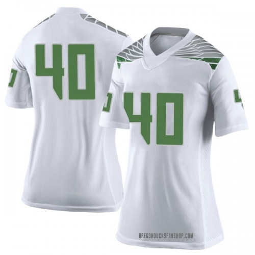 Women's Nike Noah Dahl Oregon Ducks Limited White Football College Jersey