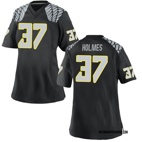 Women's Nike Noah Holmes Oregon Ducks Game Black Football College Jersey