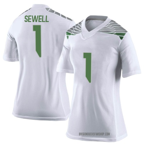 Women's Nike Noah Sewell Oregon Ducks Limited White Football College Jersey
