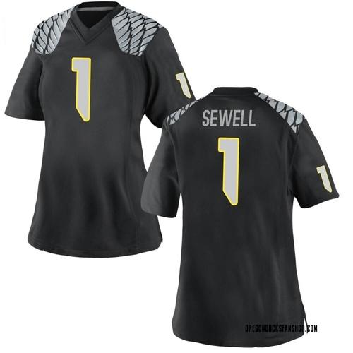 Women's Nike Noah Sewell Oregon Ducks Replica Black Football College Jersey