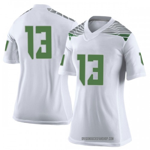 Women's Nike Paul White Oregon Ducks Limited White Football College Jersey
