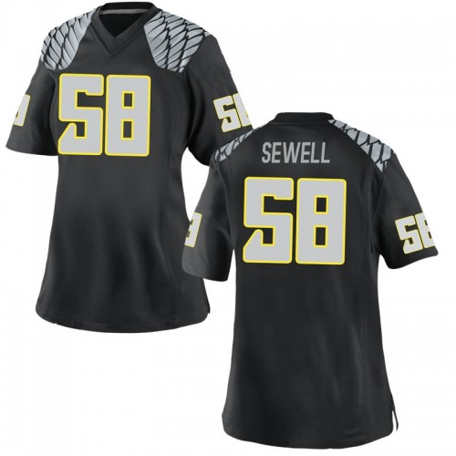 Women's Nike Penei Sewell Oregon Ducks Game Black Football College Jersey