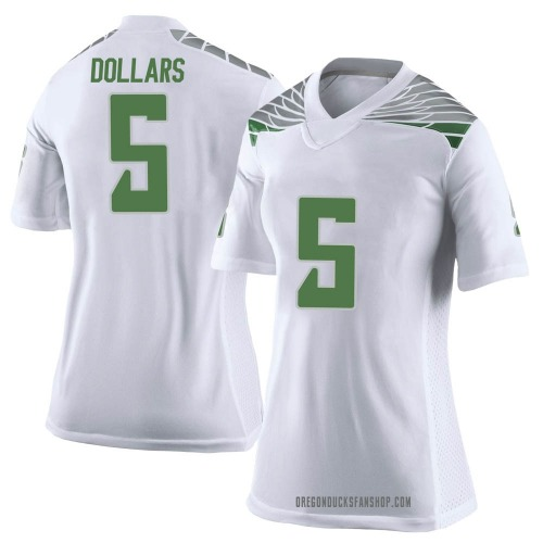 Women's Nike Sean Dollars Oregon Ducks Limited White Football College Jersey