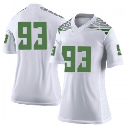 Women's Nike Sione Kava Oregon Ducks Limited White Football College Jersey