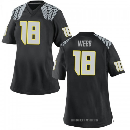 Women's Nike Spencer Webb Oregon Ducks Replica Black Football College Jersey
