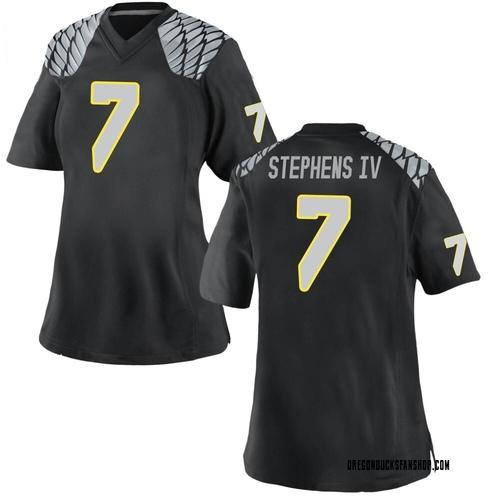 Women's Nike Steve Stephens IV Oregon Ducks Game Black Football College Jersey