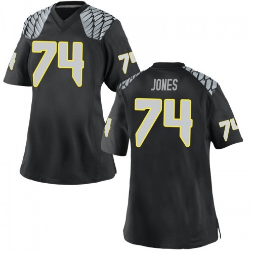 Women's Nike Steven Jones Oregon Ducks Game Black Football College Jersey