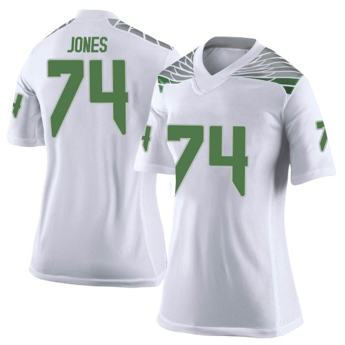 Women's Nike Steven Jones Oregon Ducks Limited White Football College Jersey