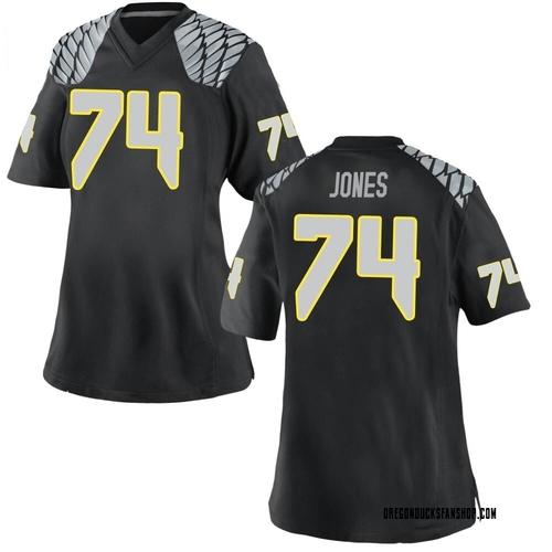 Women's Nike Steven Jones Oregon Ducks Replica Black Football College Jersey