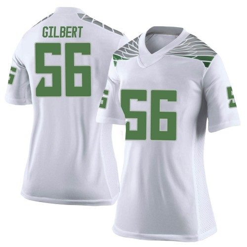 Women's Nike TJ Gilbert Oregon Ducks Limited White Football College Jersey