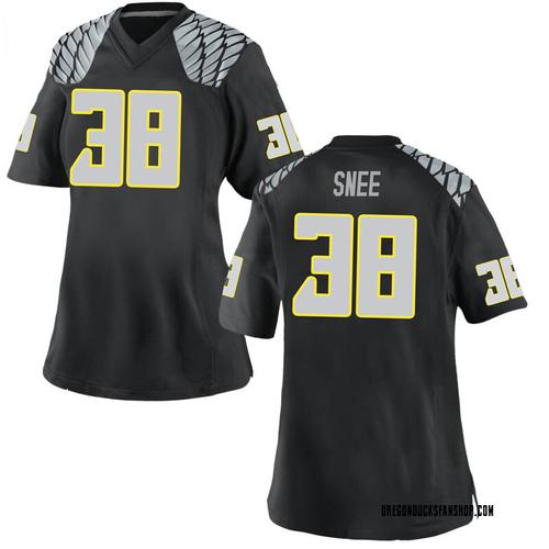 Women's Nike Tom Snee Oregon Ducks Game Black Football College Jersey