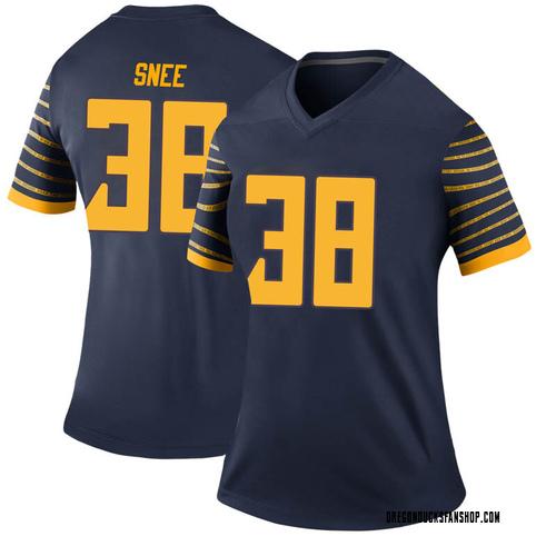Women's Nike Tom Snee Oregon Ducks Legend Navy Football College Jersey
