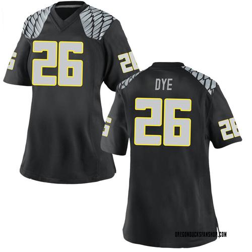 Women's Nike Travis Dye Oregon Ducks Game Black Football College Jersey