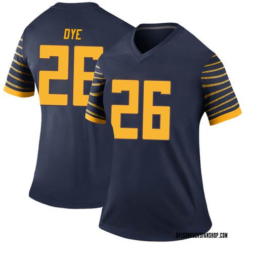 Women's Nike Travis Dye Oregon Ducks Legend Navy Football College Jersey
