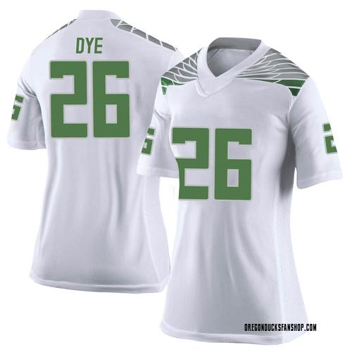 Women's Nike Travis Dye Oregon Ducks Limited White Football College Jersey