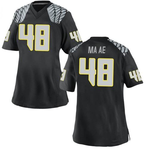 Women's Nike Treven Ma'ae Oregon Ducks Game Black Football College Jersey