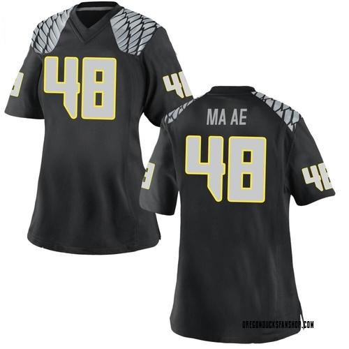 Women's Nike Treven Ma'ae Oregon Ducks Replica Black Football College Jersey