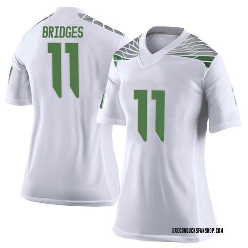 Women's Nike Trikweze Bridges Oregon Ducks Limited White Football College Jersey