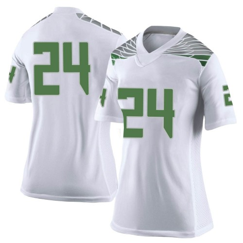 Women's Nike Vincenzo Logan Oregon Ducks Limited White Football College Jersey