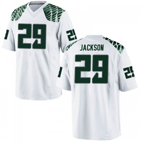 Youth Nike Adrian Jackson Oregon Ducks Game White Football College Jersey