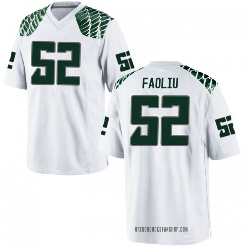 Youth Nike Andrew Faoliu Oregon Ducks Game White Football College Jersey