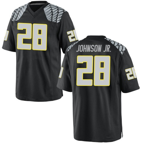 Youth Nike Andrew Johnson Jr. Oregon Ducks Game Black Football College Jersey