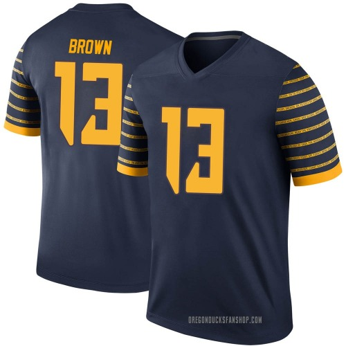 Youth Nike Anthony Brown Oregon Ducks Legend Brown Navy Football College Jersey