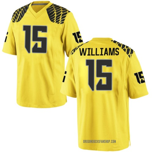Youth Nike Bennett Williams Oregon Ducks Game Gold Football College Jersey