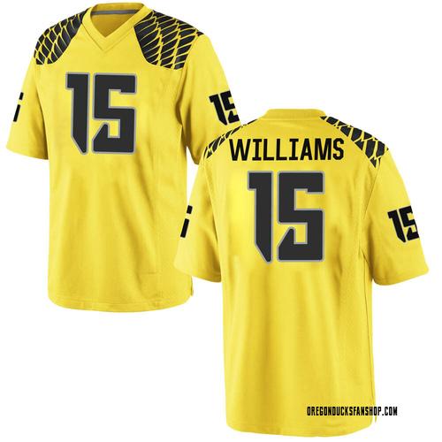 Youth Nike Bennett Williams Oregon Ducks Replica Gold Football College Jersey