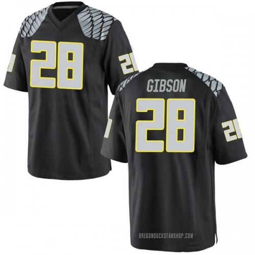 Youth Nike Billy Gibson Oregon Ducks Game Black Football College Jersey