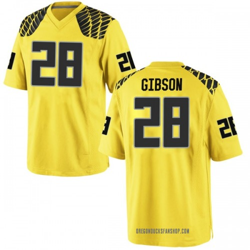 Youth Nike Billy Gibson Oregon Ducks Game Gold Football College Jersey
