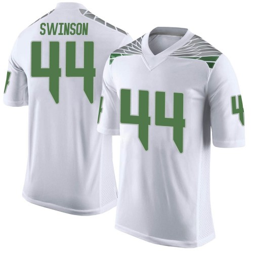 Youth Nike Bradyn Swinson Oregon Ducks Limited White Football College Jersey