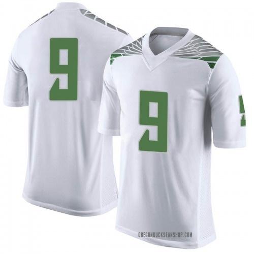 Youth Nike Brenden Schooler Oregon Ducks Limited White Football College Jersey