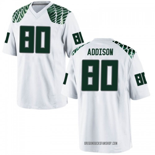 Youth Nike Bryan Addison Oregon Ducks Game White Football College Jersey