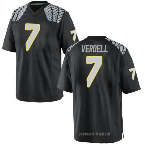 Youth Nike CJ Verdell Oregon Ducks Game Black Football College Jersey