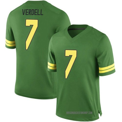 Youth Nike CJ Verdell Oregon Ducks Game Green Football College Jersey