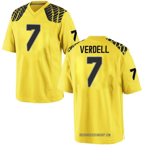 Youth Nike CJ Verdell Oregon Ducks Replica Gold Football College Jersey
