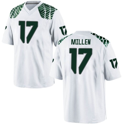Youth Nike Cale Millen Oregon Ducks Game White Football College Jersey