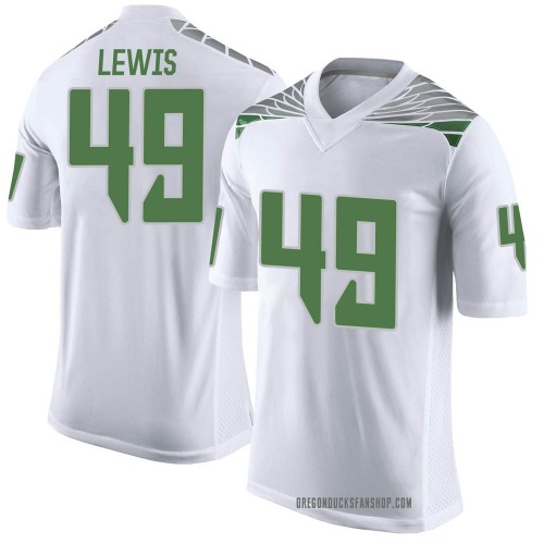Youth Nike Camden Lewis Oregon Ducks Limited White Football College Jersey