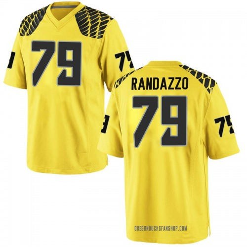 Youth Nike Chris Randazzo Oregon Ducks Game Gold Football College Jersey
