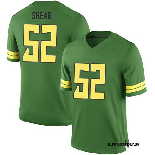 Youth Nike Cody Shear Oregon Ducks Game Green Football College Jersey