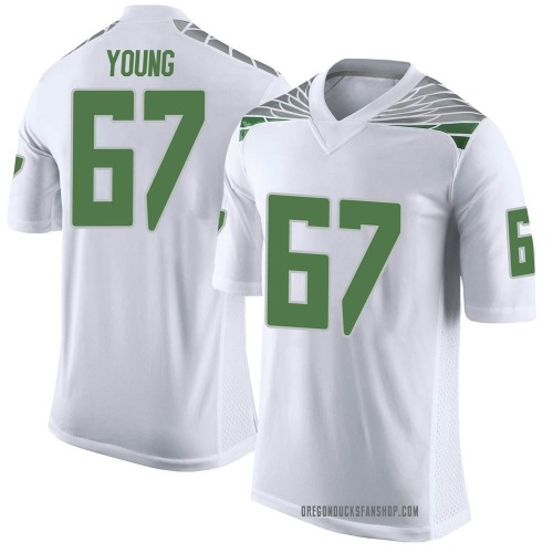 Youth Nike Cole Young Oregon Ducks Limited White Football College Jersey