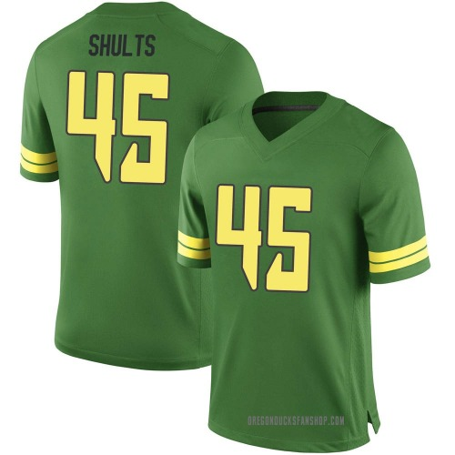 Youth Nike Cooper Shults Oregon Ducks Game Green Football College Jersey