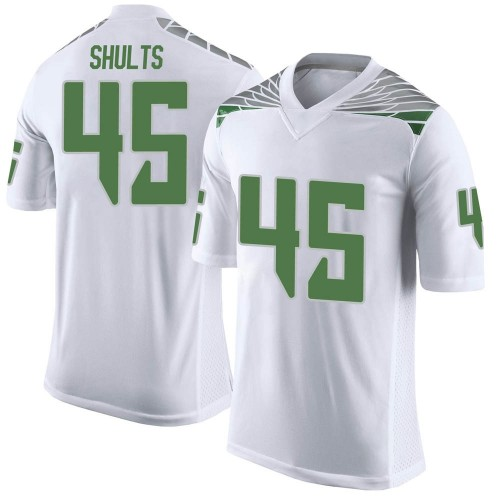 Youth Nike Cooper Shults Oregon Ducks Limited White Football College Jersey