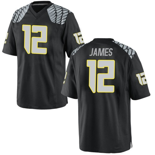 Youth Nike DJ James Oregon Ducks Replica Black Football College Jersey